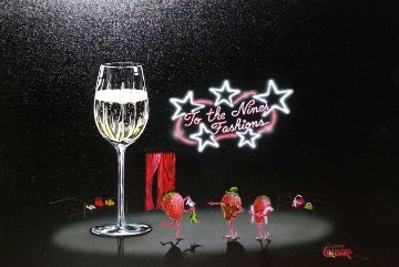 Champagne Shopper 2004 Limited Edition Print - Michael Godard
