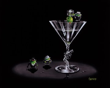 Gangster Martini (2 Shots and a Splash) 2005 Limited Edition Print by Michael Godard