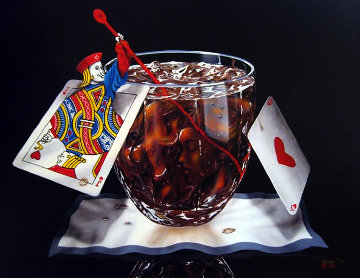 Black Jack And Coke 2002 Limited Edition Print by Michael Godard
