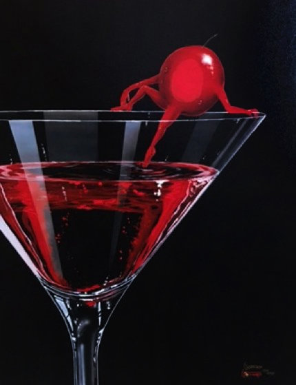 Cherry Cosmo Martini 2009 Limited Edition Print by Michael Godard