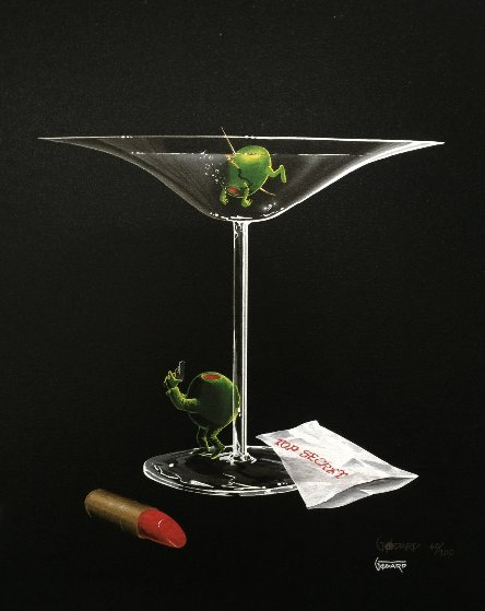 Mystery Martini  2002 Limited Edition Print by Michael Godard