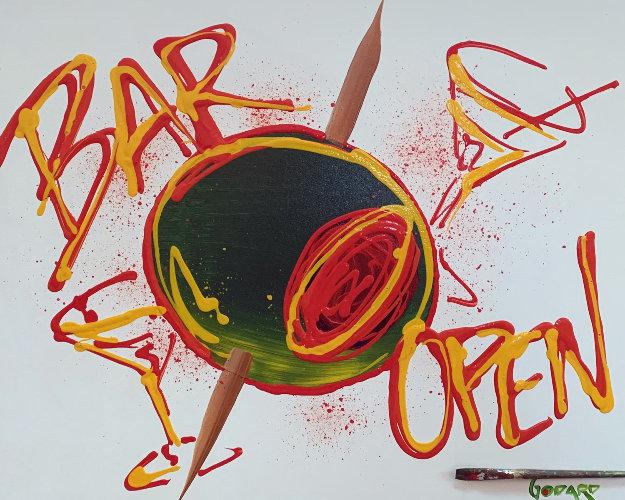Bar Open 35x42 Original Painting by Michael Godard