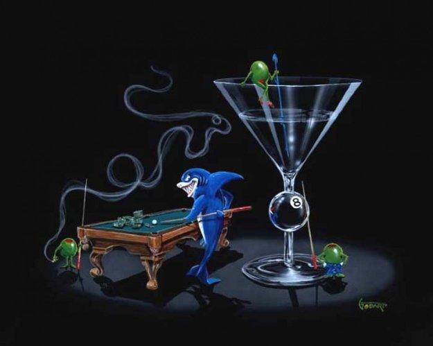 Pool Shark II 2004 Limited Edition Print by Michael Godard