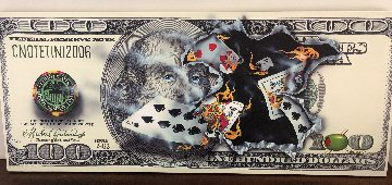 $100 Bill Full House 2006 Super Huge Limited Edition Print - Michael Godard