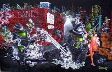 Gangster Chopper Featuring Al Capone 2007 Limited Edition Print - Michael Godard
