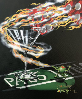 Don't Drink and Draw Series: Burning It Up 2007 Limited Edition Print by Michael Godard