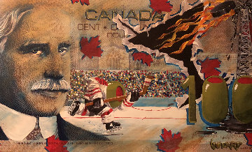 $100 Canadian Bill Oh My Canada AP 2008 Limited Edition Print - Michael Godard