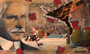 $100 Canadian Bill Oh My Canada AP 2008 Limited Edition Print by Michael Godard