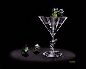 Gangster Martini (2 Shots And a Splash) 2004 Limited Edition Print - Michael Godard