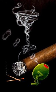 Smoking Martini  Limited Edition Print - Michael Godard