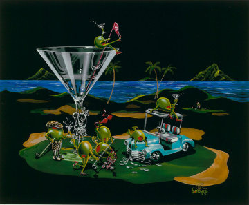 19th Hole Water Bound 2015 Embellished Limited Edition Print - Michael Godard