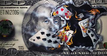 $100 Bill - Full House 2010 Huge - 36x85 Limited Edition Print - Michael Godard