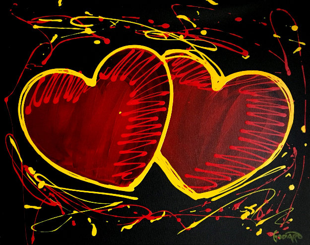 Hearts of Hope 2018 31x37 Original Painting by Michael Godard
