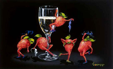 Strawberries Gone Wild 2006 Limited Edition Print by Michael Godard