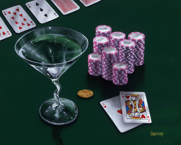 Poker Chips, Big Slick 2004 Limited Edition Print by Michael Godard