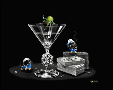 Gangsta\' Martini: Living Large 2004 Limited Edition Print - Michael Godard