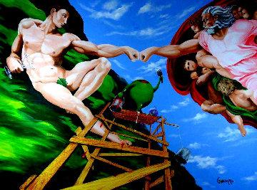 Michelangelo-Knuckles ME 2012 Embellished Limited Edition Print - Michael Godard