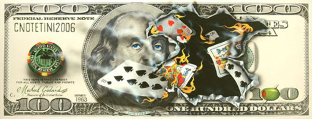 100 Dollar Bill - Full House Limited Edition Print by Michael Godard