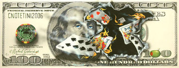 100 Dollar Bill - Full House Super Huge Limited Edition Print - Michael Godard
