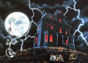 Halloween 2018 Embellished Limited Edition Print by Michael Godard