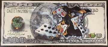 100$ Bill Full House 2011 Huge Limited Edition Print - Michael Godard