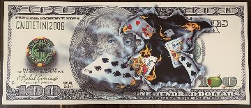 100$ Bill Full House 2011 Super Huge Limited Edition Print - Michael Godard