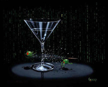 Matrix Martini   2004 Limited Edition Print by Michael Godard