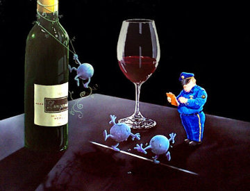 Nervous Grapes 2002 Limited Edition Print by Michael Godard