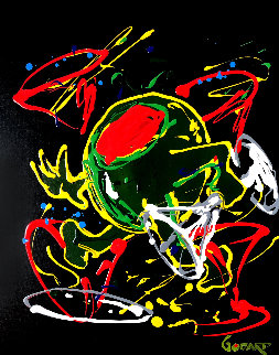 Dancing Olive 2007 30x24 Original Painting - Michael Godard