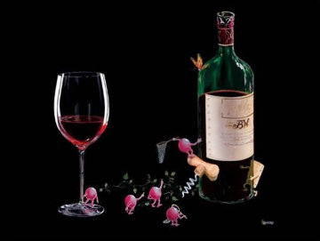 Butterfly Wine 2003 Limited Edition Print - Michael Godard