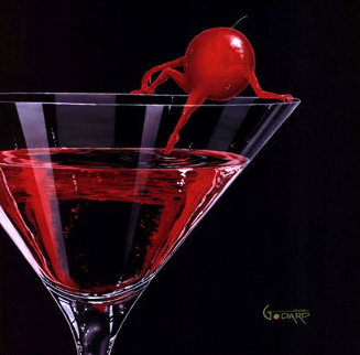 Cherry Cosmo Martini 2008 Limited Edition Print - Michael Godard