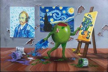 Van Gogh AP Embellished Super Huge Limited Edition Print - Michael Godard