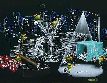 City Heist  2015 Embellished Limited Edition Print - Michael Godard