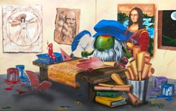 Da Vinci's Window 2015 Embellished Limited Edition Print - Michael Godard