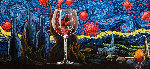 Starry Starry Wine 2018 Heavily Embellished Limited Edition Print - Michael Godard
