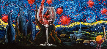Starry Starry Wine 2018 Embellished Limited Edition Print - Michael Godard