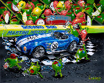We Olive a Shelby 2008 HS  by Shelby Limited Edition Print - Michael Godard