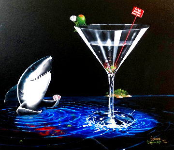 Card Shark: Don't Drink & Draw Series 2006 Limited Edition Print - Michael Godard