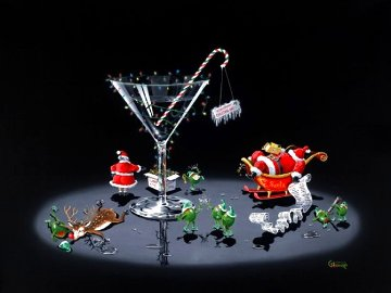 Don't Drink And Draw Series: Company Christmas 2004  Limited Edition Print - Michael Godard