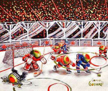 We Olive Hockey 2007 Limited Edition Print - Michael Godard