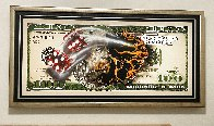 $100 Bill With Dice 2018 Super Huge Limited Edition Print by Michael Godard - 1
