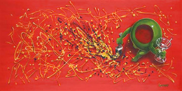Pollock 2008 Embellished Super Huge Limited Edition Print - Michael Godard