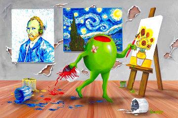 Van Gogh ME 2010 Embellished Super Huge Limited Edition Print - Michael Godard