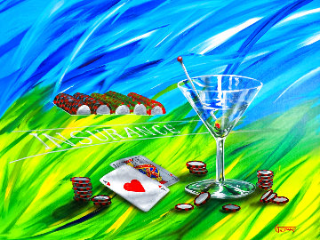 Black Jack II 2004 33x43 Original Painting - Michael Godard