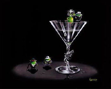 Gangster Martini - 2 Shots And a Splash G 2004 Limited Edition Print - Michael Godard