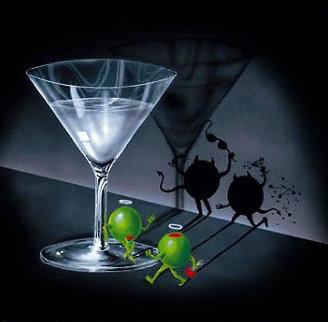 He Devil She Devil Martini 2004 Limited Edition Print - Michael Godard