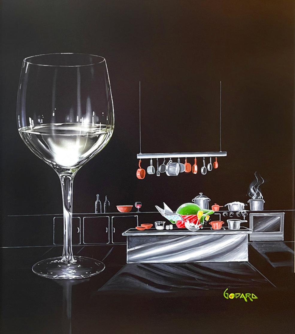 White Wine Cook 2015 30x24 Original Painting by Michael Godard