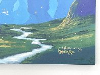 Chasing Fireflies 2015 Embellished Huge 24x72 Limited Edition Print by Michael Godard - 3