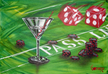 Loose Poker Series (Olive) 24x36 Original Painting by Michael Godard