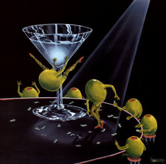 Even Dirtier Martini Limited Edition Print by Michael Godard